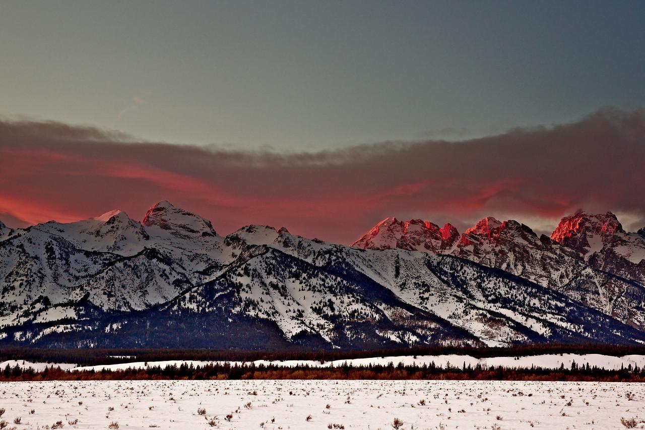 Tetons 2009 - sunset