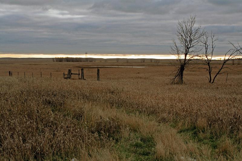 North Dakota with gray skies