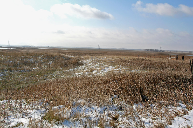 A snowy North Dakota landscape