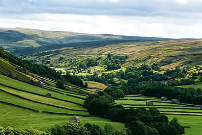 Looking down Swaledale from Muker