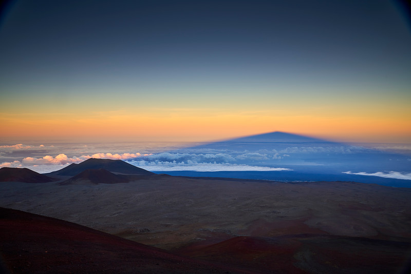 Twilight shadow of Mauna Kea seen from the summit