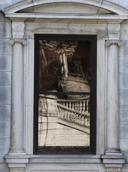 Window reflection, Swannanoa