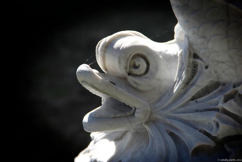 Fish on a fountain, Swannanoa