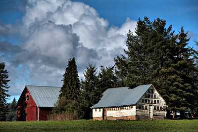 Unique Barn Somewhere in Oregon