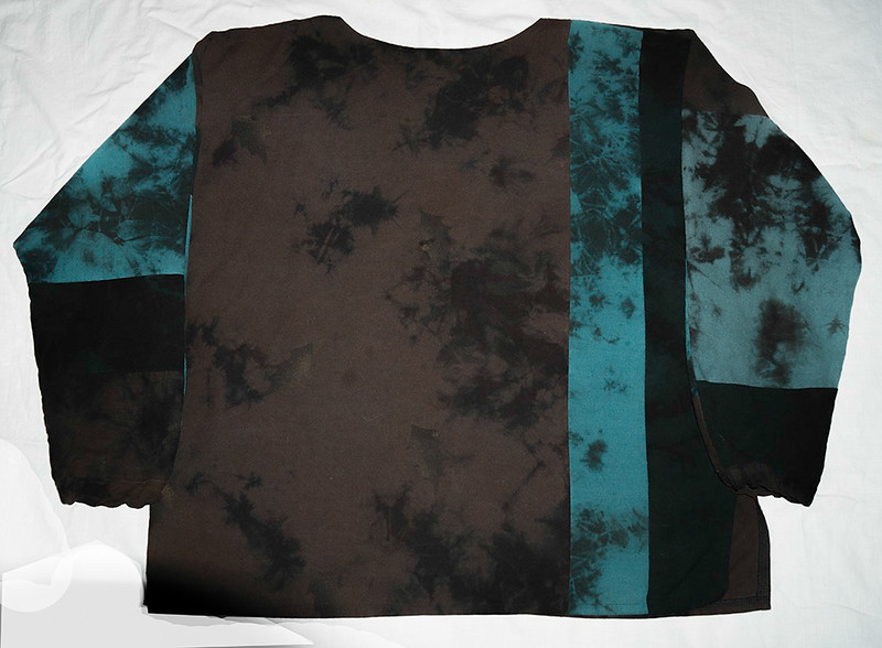 Designer Hand-Painted,  One-of-a-Kind Silk top (medium) by Beth Nash  $20.00