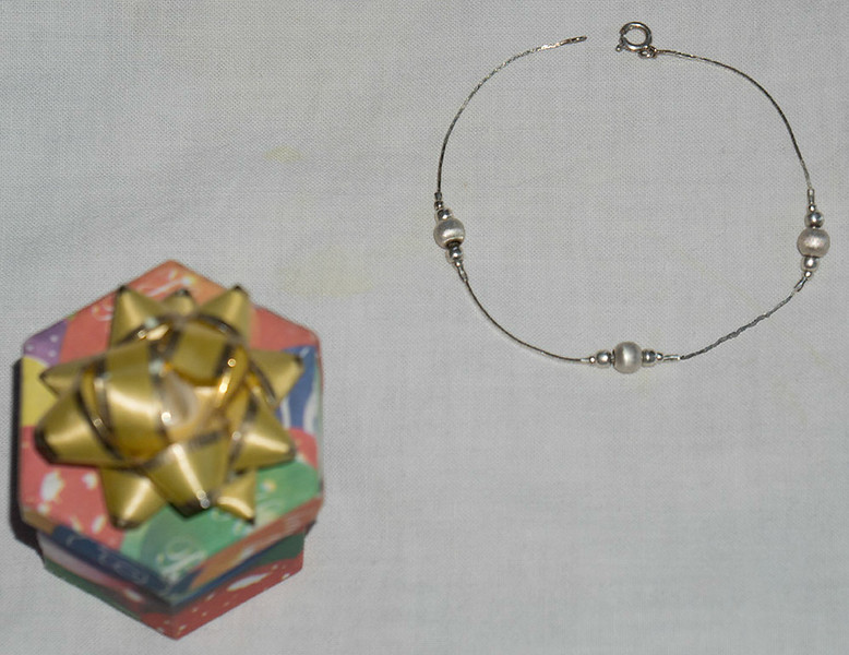 Dellicate Silver & pearl Bracelet from Mexico  $10.00