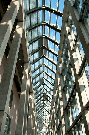 Roof over the hallway at the National Gallery of Canada