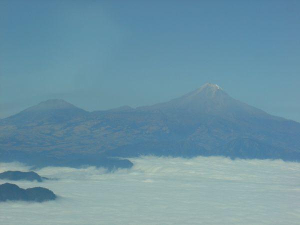 Volcano between Oaxaca and McAllen Texas.