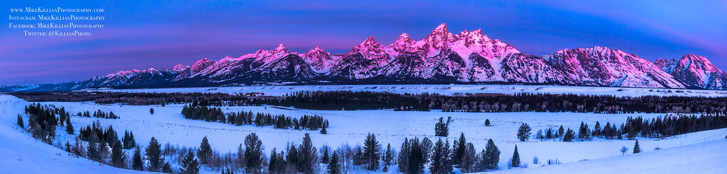 Sunrise on the Grand Tetons / Wyoming