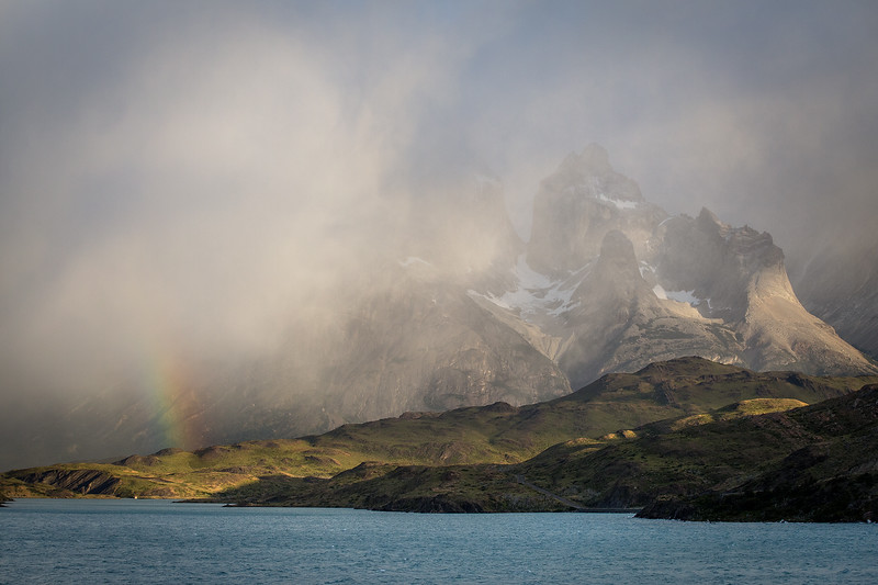 Rainbow on the Front of the Torres del Paine