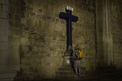 Hiker Praying - La Catedral, Cuzco