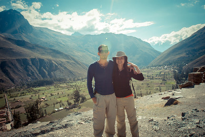 Canyon view from the top - Ollantaytambo