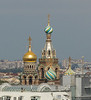 The Church of the Savior on Spilled Blood as viewed from the top of St. Issac's.