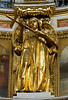 One of the gilded bronze statues ringing the inside of the dome.