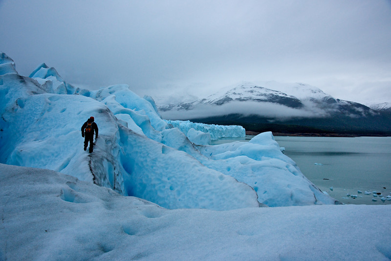 Patagonia 2009- one of our guides on the Perito Moreno glacier