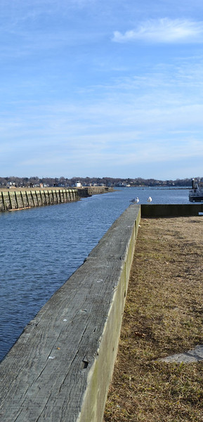 Two friends, Pickering Wharf, Salem, MA