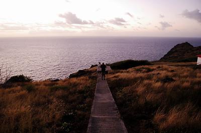 Makapu'u Point, Hawaii. First sunrise of 2007.