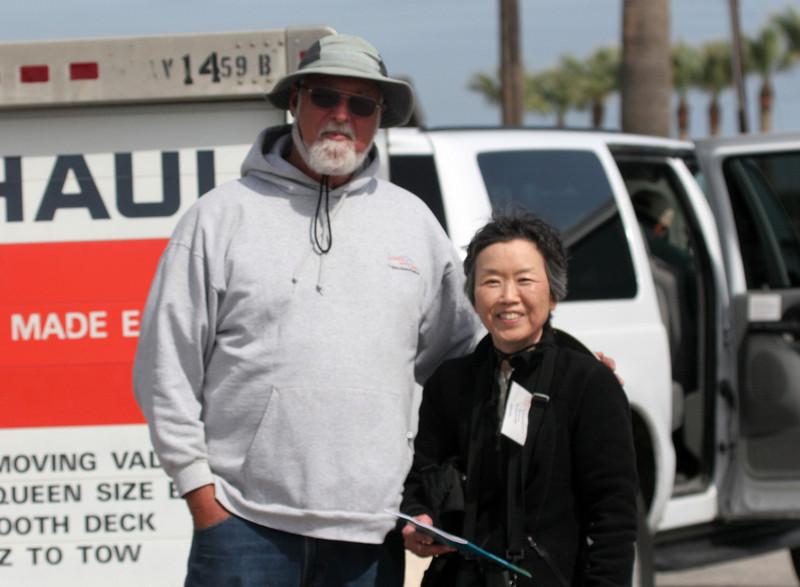 UT staffer Rick Tinnin and Karen at Fulton Harbor.
