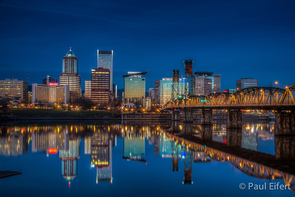 Portland Thanksgiving Cityscape
