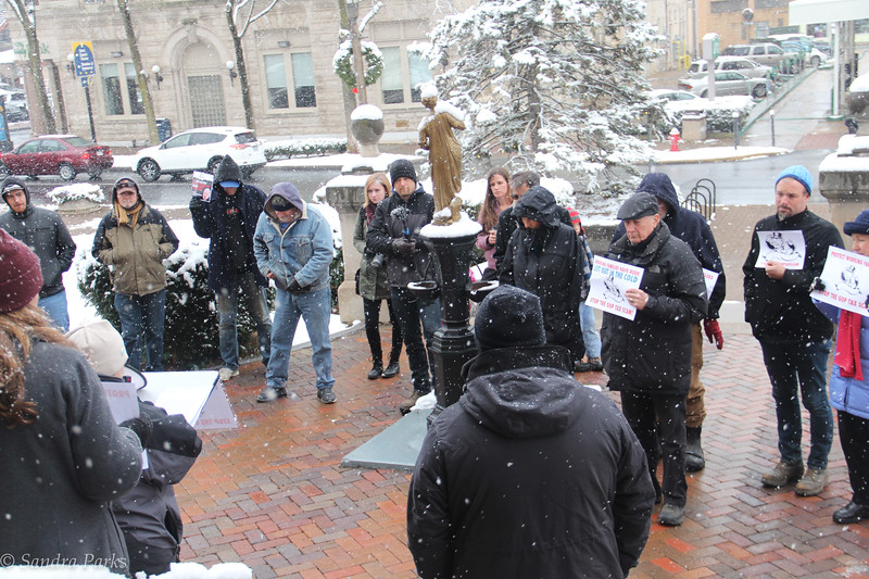 Left Out In The Cold: Harrisonburg Rally Against the #GOPTaxScam