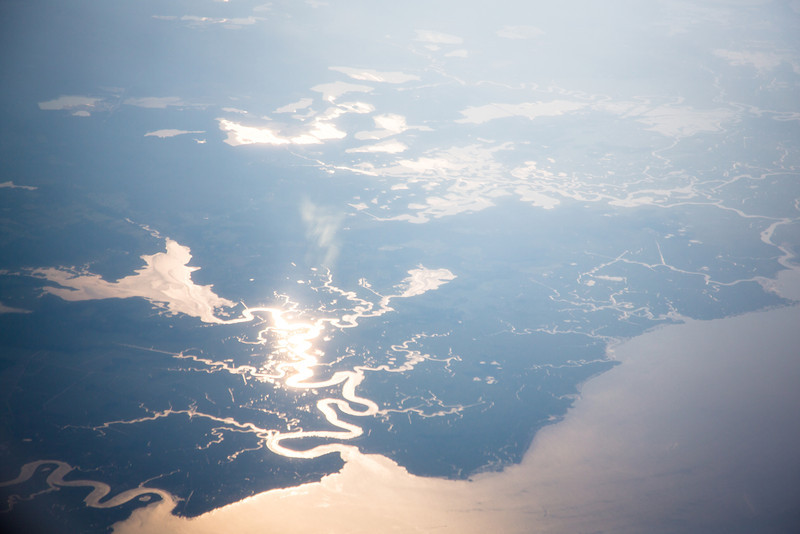 The New Jersey coastline, about 20 minutes out of LaGuardia...