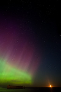 Aurora Borealis falls out from heaven