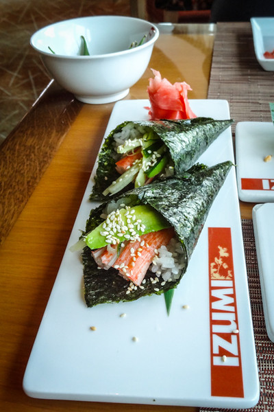 """Sushi """"Ice Cream""""<br /> Izumi Restaurant"""