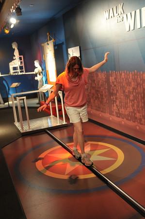 Lisa walking the tightrope