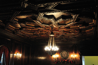 Intricate ceiling of the dining room