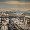 Mountains and train s