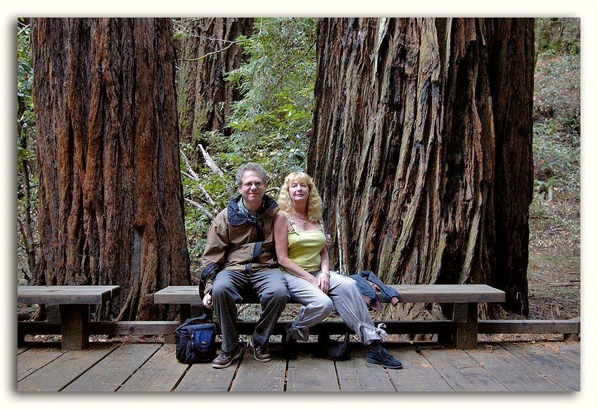 Radu and Katey at Muir Woods