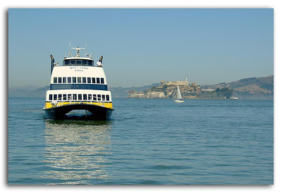 Ferry for Sausalito wAlcatraz in Background