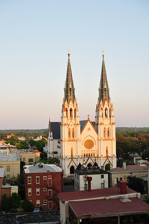 Cathedral of St. John the Baptist at sunset