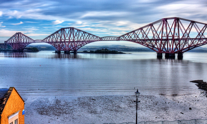 Daytime shot of the Firth of Forth Bridge...