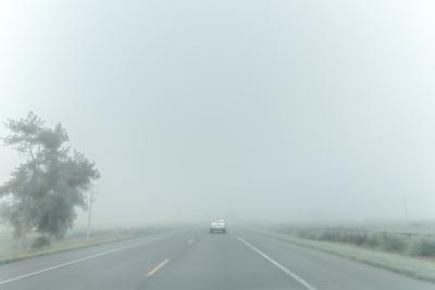 August 21, 07:34 am.  Western Nebraska.  Nearing Scotts Bluff.  Still fog.  No bueno.