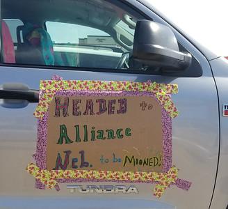 August 20, 2017.  Awaiting the team in Super 8 parking lot, Ft. Morgan, Colorado.  Let's avoid Alliance Nebraska tomorrow.