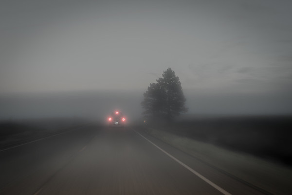 05:43  August 21 2017, Heading north into Nebraska towards eclipse totality. Fog.  Les and Roxy's truck broke down on I-90, 10 minutes into trip.  Andy and Aidan went back to pick them up.  And fog!  Of all days.  Not a good start.