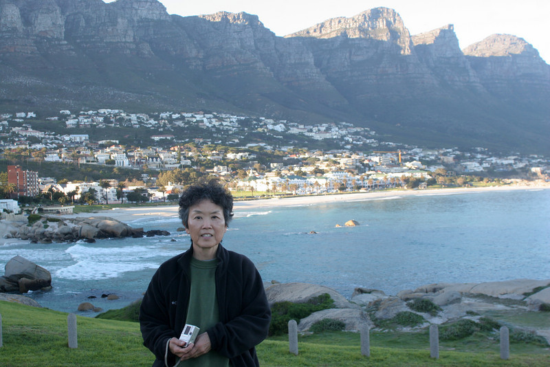 Camps Bay with the Twelve Apostles range as a background on Cape Peninsula