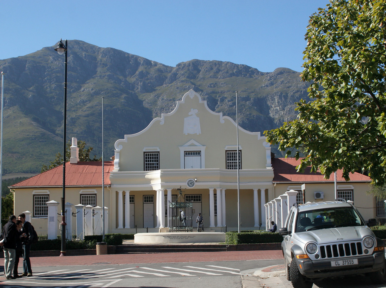Example of Libertas(Cape Baroque)gable design in Franschhoek.