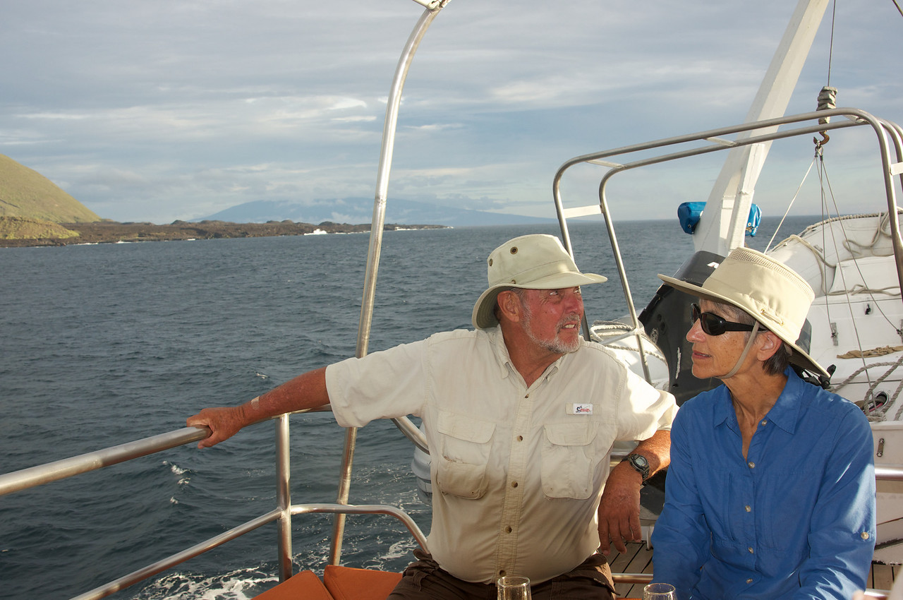 Dave and Ellen on board Integrity