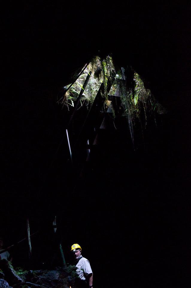 Within the Lava Tube Santa Cruz Island