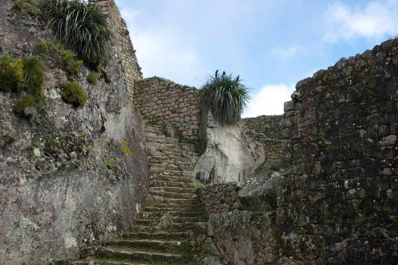 A graceful ancient stairway.