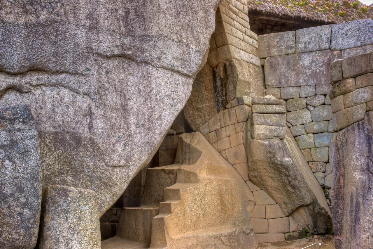 Incan stonework by a preincarnation of Salvidor Dali.