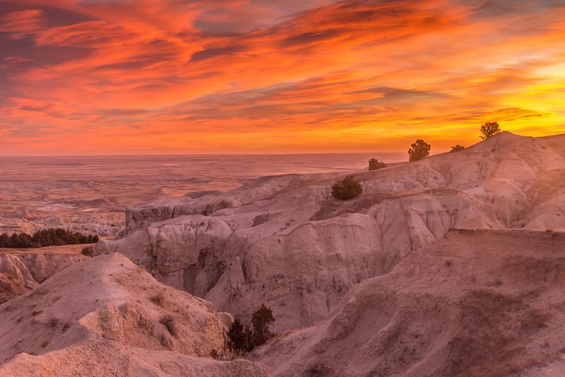 Colorful Badlands National Park