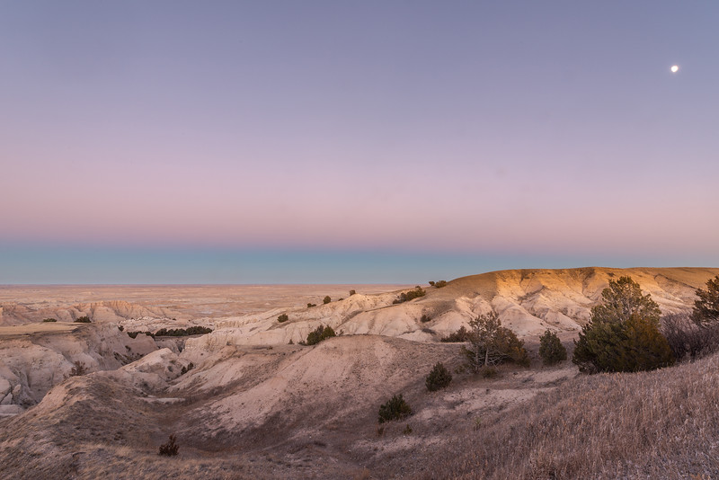 Moon over the Badlands