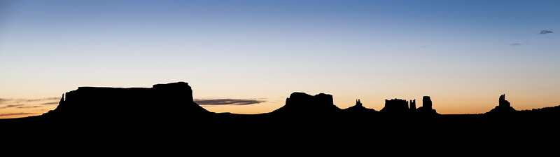 Monument Valley Sunrise Silhouette