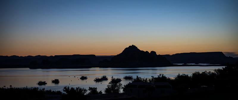 Cloudless Lake Powell Sunrise
