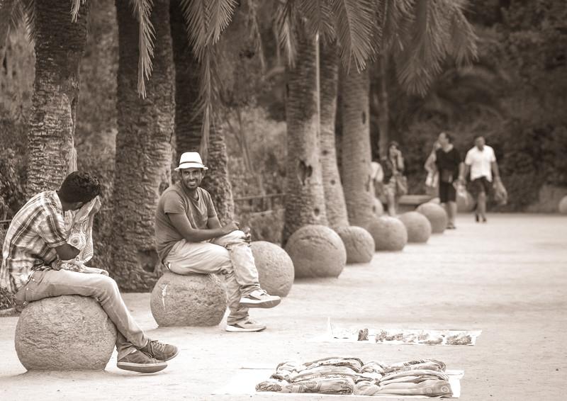 Park Guell merchants