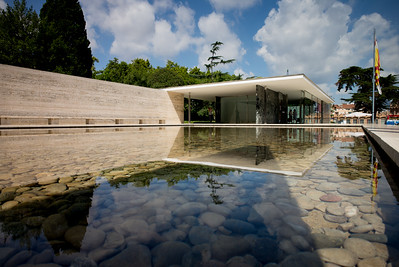 The Fundacio van der Rohe water