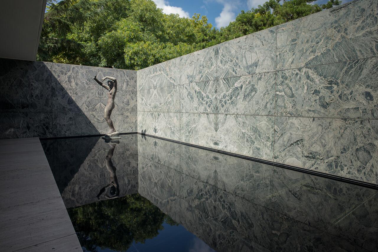 """The Fundacio van der Rohe - Sculpture """"Dawn"""""""